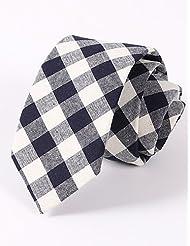 WZW Homme Cravate Coton Polyester Cravate.Pied-de-poule Toutes les Saisons