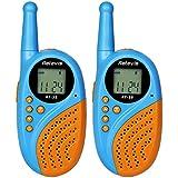 Retevis RT-35 Niños Walkie Talkies Recargables 8 Canales UHF 446MHz 0.5W VOX con USB de Doble Conector (Azul, 1 Par)