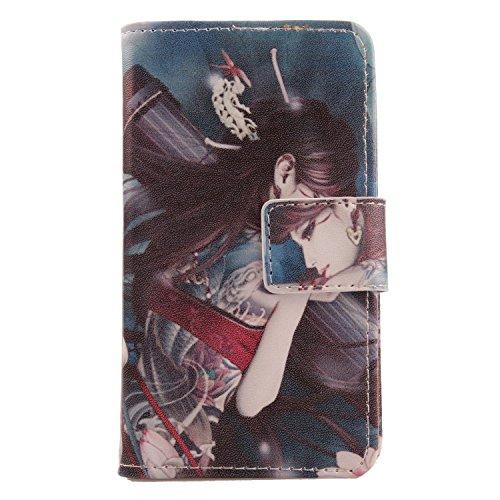 Lankashi PU Flip Leder Tasche Hülle Case Cover Schutz Handy Etui Skin Für Ulefone Power Wooden 5.5