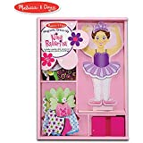 """Melissa & Doug Nina Ballerina Magnetic Dress-Up Set (Pretend Play, 6 Outfits, Encourages Creativity, 27 Magnetic Pieces, 11.6"""" H x 8.65"""" W x 1.05"""" L)"""