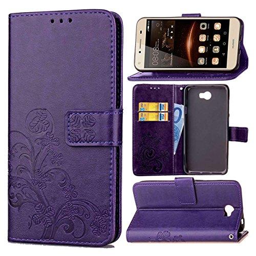 pinlu Funda para Huawei Y5 II Función de Plegado Flip Wallet Case Cover Carcasa...