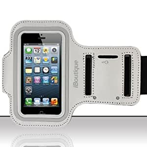 iBoutique® Plushwear® iPhone 5 Premium Neoprene Sports Armband Protective, Shock & Sweat Resistant Case / Cover - ARM-BND-IP5 (Ice White)