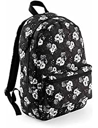 Bag-base - sac à dos loisirs collège lycée étudiants - motifs imprimés - BG188 (Noir hawaiian)