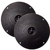 SeaWorthy SEA5632B 6.5 Marine Speakers Pair Round 2-Way 100W Black Consumer Electronics