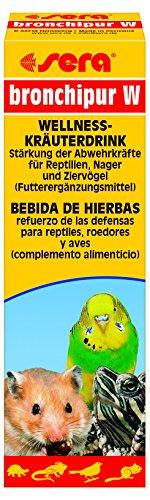 sera 9884 bronchipur W 50 ml - Wellness Kräuterdrink zur Stärkung der Abwehrkräfte für Reptilien, Nager und Ziervögel