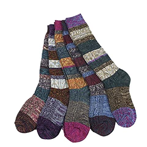 Deal Of The Week Santwo Color Block Warm Knited Lace