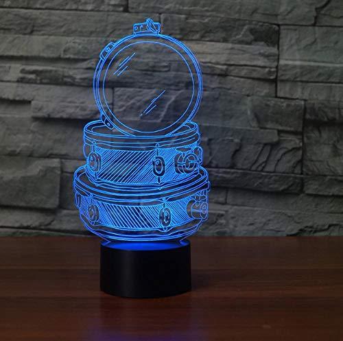 3D Illusion Lampe LED Nachtlicht Spiegel Haus Lampe 7 Farbe Touch Tischlampen Acryl Platte & ABS Base & USB Ladegerät Schlafzimmer-Büro-Dekor -