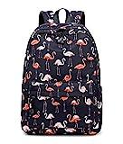 Acmebon stilvolle Schule Rucksack für Jungen und Mädchen Trend drucken Zufälliger Laptop Rucksack Flamingo