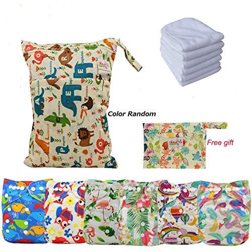 Ohbabyka Reusable Washable Baby Boys/Girls Pocket Cloth Diapers with 1pc Insertohbabyka Wiederverwendbare Unisex Baby Tuch Pocket Windeln All in One mit 1?weichen Tuch inneren (Unisex-baby-windel-tasche)