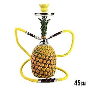 35208 Pipe à eau Narguilé Shisha Hookah Incassable En plastique rigide Forme d\'ananas 45cm