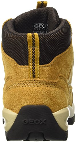 Geox J Orizont Boy Abx B, Baskets hautes  Garçon Gelb (OCHREYELLOW/COFFEEC6580)