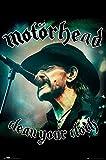 empireposter 744746 Clean Your Clock - Motörhead - Hard Rock Musik Plakat Druck, Papier, Mehrfarbig, 91,5 x 61 x 0,14 cm