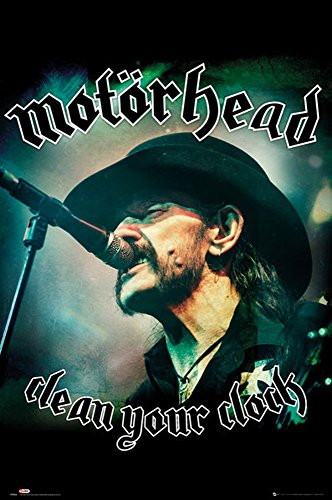 empireposter 744746 Clean Your Clock - Motörhead - Hard Rock Musica Poster Stampa, Carta, Multicolore, 91,5 x 61 x 0,14 cm