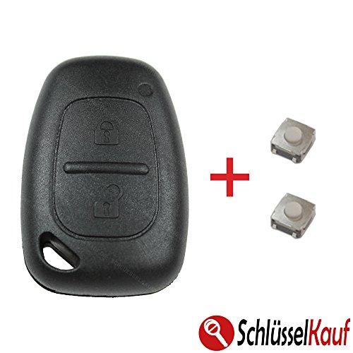 RENAULT Master Trafic Schlüsselgehäuse Funk Fernbedienung Ersatz Gehäuse OPEL Movano Vivaro + 2x Mikrotaster Autoschlüssel Neu