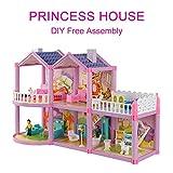 Puppenhaus Villa DIY montiert Haus Sweet Castle Modell Simulation Playset Spielzeug Set für Mädchen und Jungen ab 3 Jahren