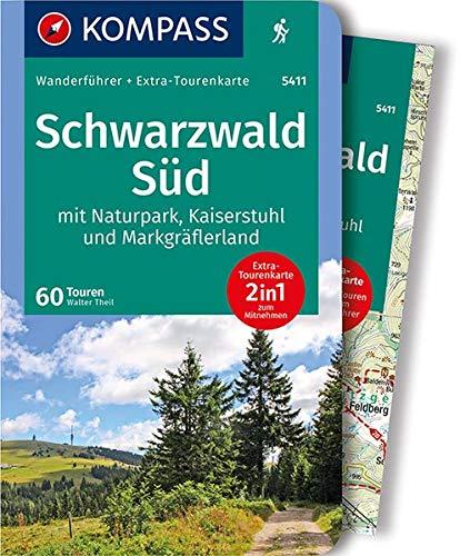 KOMPASS Wanderführer Schwarzwald Süd mit Naturpark, Kaiserstuhl und Markgräflerland: Wanderführer mit Extra-Tourenkarte 1:75.000, 60 Touren, GPX-Daten zum Download.: Wandelgids met overzichtskaart