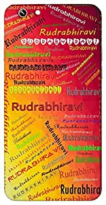 Rudrabhiravi (Popular Girl Name) Name & Sign Printed All over customize & Personalized!! Protective back cover for your Smart Phone : Samsung Galaxy E-7