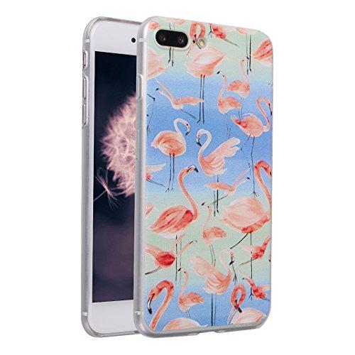 Hülle iPhone 7 Plus/8 Plus Schale 5.5 Zoll, iPhone 7 Plus Hülle Silikon, iPhone 8 Plus Hülle Silikon, Moon mood® TPU Silikon Handyhülle Schutzhülle für Apple iPhone 7 Plus/8 Plus Thin Dünn Weich TPU F Muster 5