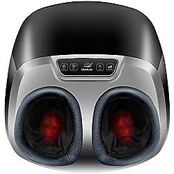 Snailax Masseur de pieds Shiatsu Chauffant-Appareil de massage électrique avec Massage Shiatsu Pétrissage Profond et Pression d'air, pour réchauffe-pieds, Relaxer Maison Bureau SL581