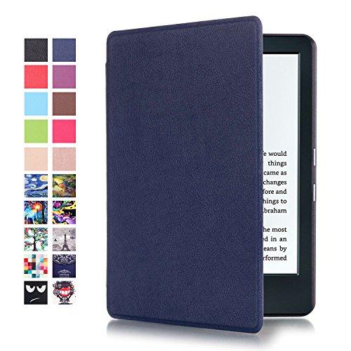 Étui Toute Nouvelle Liseuse Kindle - Folio Etui Housse Ultra Mince et Léger à Rabat Fonction Réveil / Sommeil Automatique pour Amazon Kindle (8ème Génération - Modèle 2016), Indigo