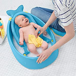 Skip Hop Moby Smart Sling 3-Stage Baby Bath Tub, Blue
