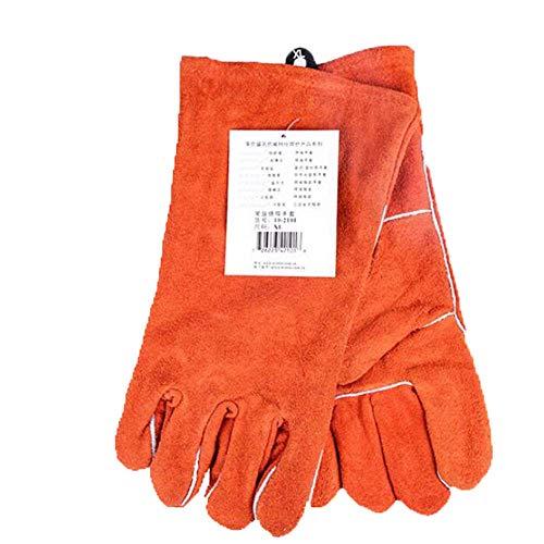 KYCD Industrial Gloves Long Leather Gardening Handschuhe - Punktionsbeständig mit extra Längem Unterarmschutz und Verstärkten Handflächen und Fingerspitzen