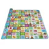 Ultrey Krabbelmatte Baby Spielteppich Lernteppich Ungiftig Geruchlos Stoff Spielmatte Picknick-Decke Kinderzimmer (Typ 4)