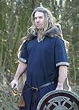 Mittelalterliche Tunika kurzarm, blau von Battle-Merchant - LARP Wikinger Mittelalter Größe XXXL