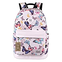 Mocha weir JIAYBL Laptop Backpack Eiffel Tower Backpack Casual Style Bookbags Children School Boys and Girls Ladies Women Backpack College Travel Backpack (3.Butterfly)