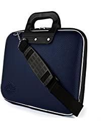 "Style Homez Stylish Unisex Hard Shell Briefcase Blue Laptop Bag with Strap for 15.6"" Laptop"