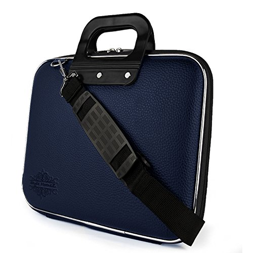Style Homez Stylish Unisex Hard Shell Briefcase Laptop Bag with Strap, Blue