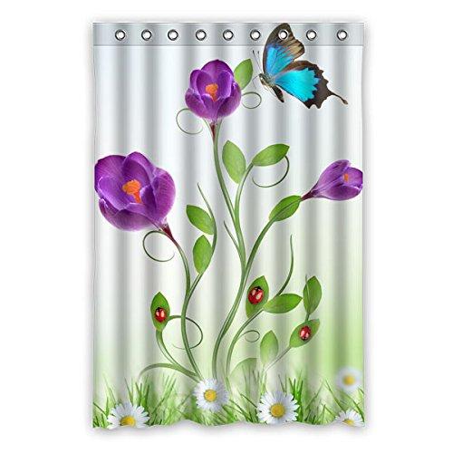 """120 cm x 183 cm (48 """"x 72"""") Curtain Bagno Doccia, Generale fiore luminoso e moda su misura farfalla Tenda della doccia"""