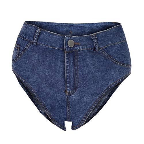 OYSOHE Damen Sexy Hohe Taille Ultra Kurz Denim Mini Shorts Tanga Jeanshose - Ultra-low-rise-skinny Leg-jeans