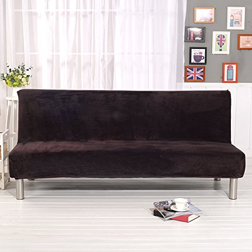 zyurong Thicker Plush Sofa Cover Full Coverage Folding Sofa Bed Slipcover Protector Without Armrest