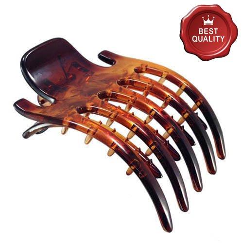 K131 – 003 – Pince pour cheveux latérale à peigne cm 6,5 x 8 Marron Tortue – Accessoires Cheveux Pinces