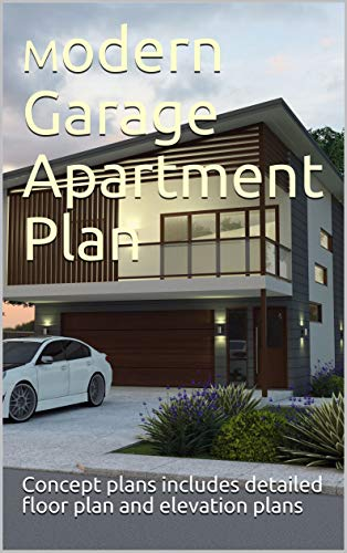 2 Car Garage with living space above plans- modern garage ...