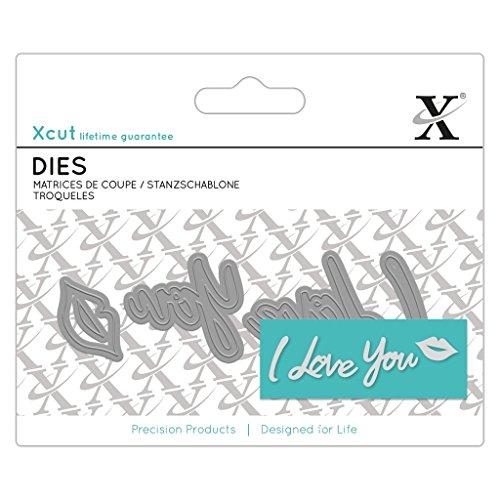 Xcut Mini Decorative Dies 4/Pkg-I Love You Sentiment Sauber Critter