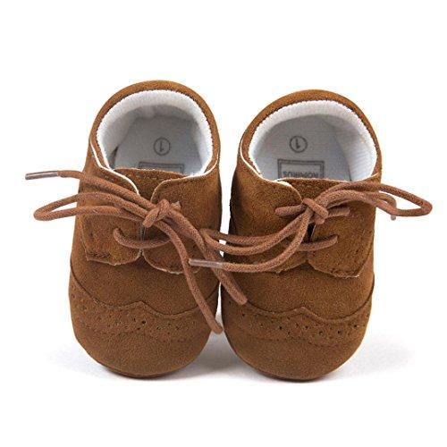 Hunpta Braun Baby Boy Kleinkind Schuhe Sohle 13 weiche jungen Braun Girl Leder Lauflernschuhe Neue Baby Schuhe rtqxZwBr