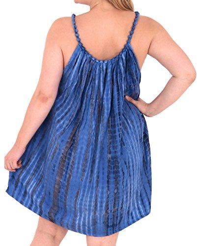 La Leela Damen Designer sundress Bademode Badebekleidung Badeanzug Bikini Vertuschungen Tops Blau