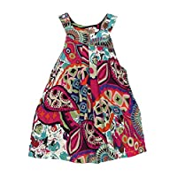 Floral Toddler Baby Kids Girls Bohemian Princess Dress Fashion Beach Sundress Clothes by Kolylong( for 1-10 years old girls) (5Y, Green)