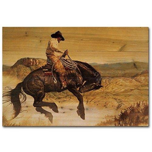 WGI-GALLERY 2416 Wandbild aus Holz, Motiv Sun Fishin' Son of a Gun -