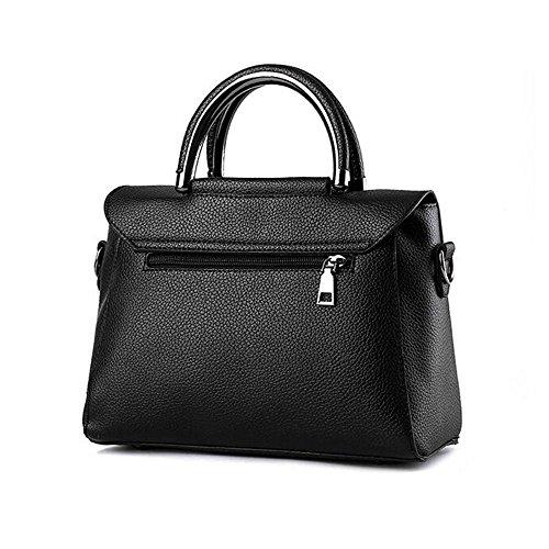 Toopot Borsa della borsa della borsa della borsa della borsa delle donne semplice borse della borsa della moda di modo borsa sveglie delle ragazze (VINO ROSSO) RUBBER RED