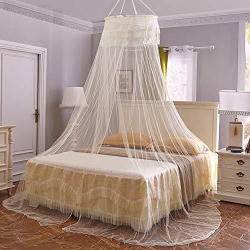 e Moskitonetz Einfache Installation HäNgendes Betthimmelnetz FüR Einzel- Bis Kingsize-Betten HäNgematten Kinderbetten,Yellow ()