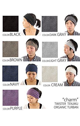 Casualbox Femme fait au Japon bandeau cheveux bande bio coton peau Gris Clair