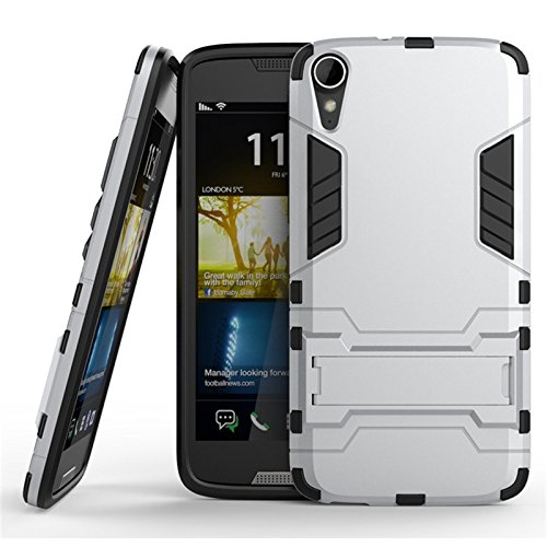 Parallel Universe Ironman Kick stand Cover for HTC Desire 828 - Silver