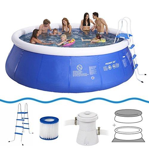 Jilong Marin Blue 450H+ Set - Quick-up Pool 450x122cm, mit Kartuschen-Filterpumpe, Leiter, Boden- und Abdeckplane
