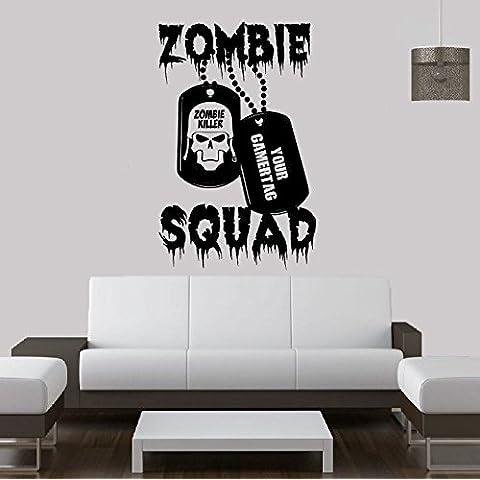 Call Of Duty estilo Zombie & Gamer etiqueta Cod Battlefield MW3PS3Xbox 360–Vinilo adhesivo decorativo para pared Póster Mural dormitorio Gamer, 730mm x 1150mm