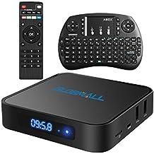 Globmall Android 6.0 Smart TV Box avec Mini Clavier Sans fil, 2017 Modèle X1 Boîtier TV 1Go DDR4 8Go EMMC avec Quad Core CPU 64 Bits AmlogicS905X Support Réel 4K WiFi 2.4 GHz Bluetooth 4.0 OTG
