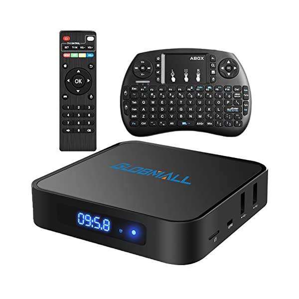 Globmall-Android-60-Smart-TV-Box-avec-Mini-Clavier-Sans-fil-2017-Modle-X1-Botier-TV-1Go-DDR4-8Go-EMMC-avec-Quad-Core-CPU-64-Bits-Amlogic-Support-Rel-4K-WiFi-24-GHz-Bluetooth-40-OTG
