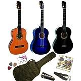 Pack Guitare Classique 4/4 pour Gaucher Avec 6 Accessoires ~ Neuf (noire)